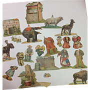 Great Antique Collection Of Lion Coffee Advertizing Figures Paperdolls