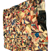 Wonderful Patchwork Quilt Top Victorian Crazy Quilt