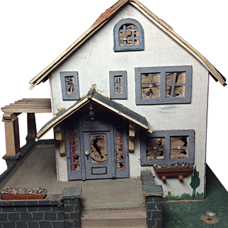 Vintage 1930 to 1940 Christmas House Larger Size Craftsman Detail