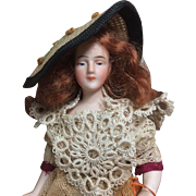 """6 and 1/2"""" Antique German Bisque Dollhouse Doll Jointed Arms"""