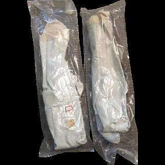 Pair of Vintage Kidolene Doll Bodies Still in Plastic.