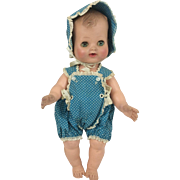 "Madame Alexander Vinyl Baby Tagged Clothes 12"" Little Genius"
