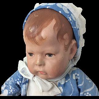 "Wide Hip Number 1 German Kathe Kruse Cloth Doll 16"" All Original"