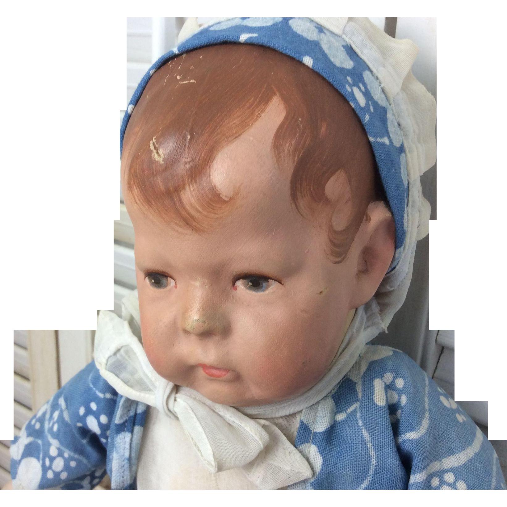 """Wide Hip Number 1 German Kathe Kruse Cloth Doll 16"""" All Original Best Offer"""