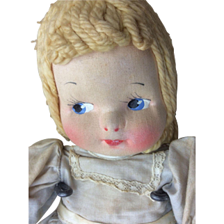 "12"" Vintage Cloth Doll Childhood ClassicsHard To Find"
