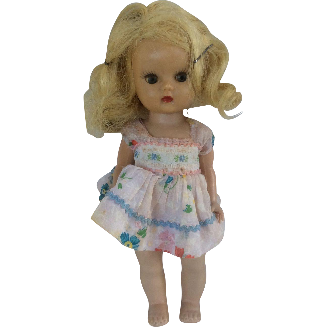 "7"" Hard Plastic Nancy Ann Stirybook Doll Muffy. Original Clothes."