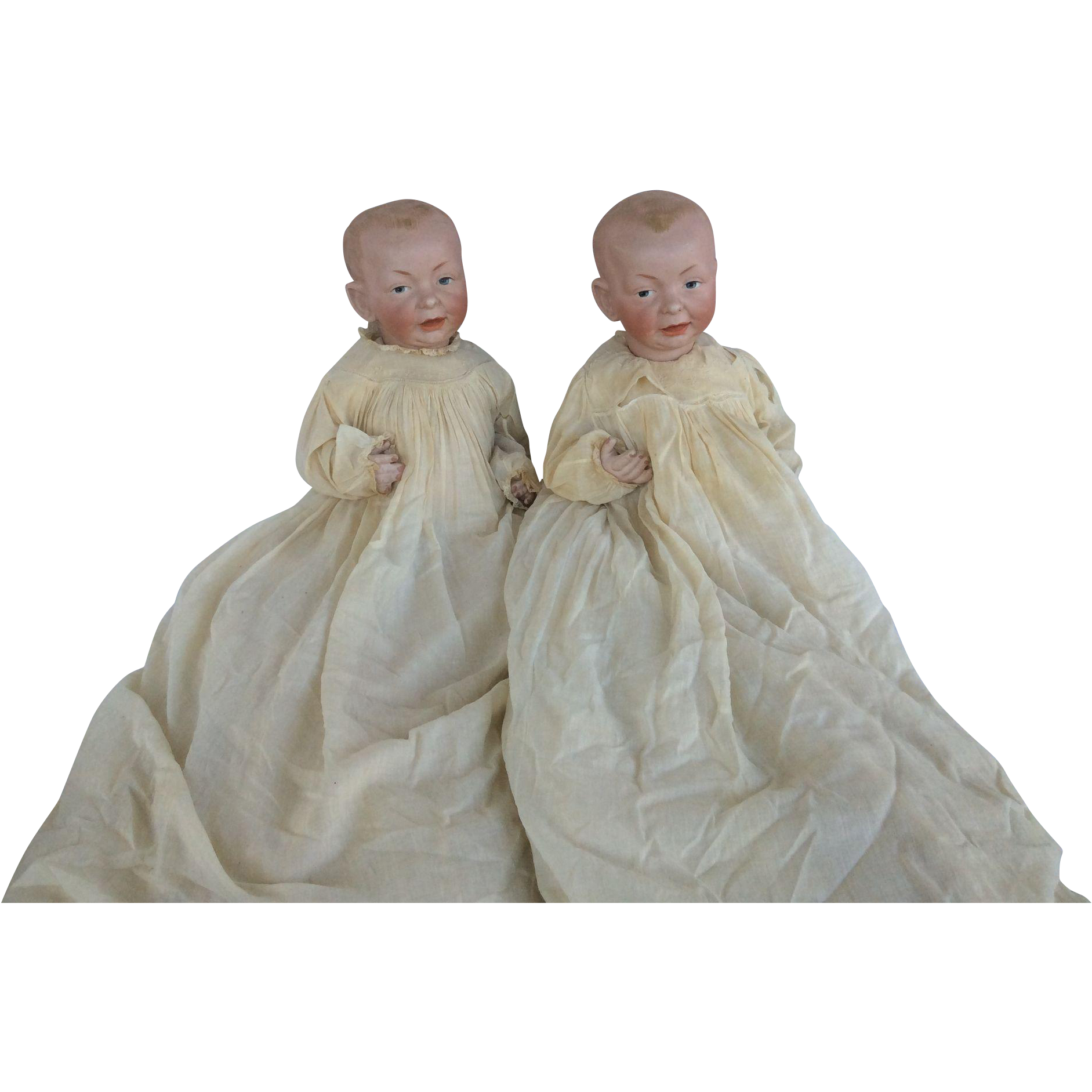 Large Pair of Kammer And Reinhardt 100 German Bisque Kaiser Babies