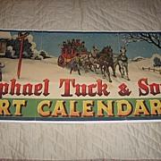 Original Raphael Tuck & Sons Calendar Art Advertisement