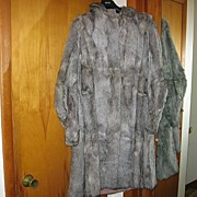Vintage Real Fur Coat with Unique Styling