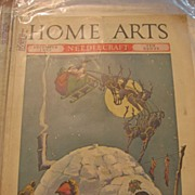 Santa and Sleigh Cover on 1930s Home Arts Magazine