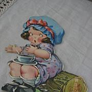 Terrific Vintage Nursery Rhyme Valentine Miss Muffet and Spider