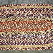 Oval Mennonite Handmade Braided Lamp Mat Large Size
