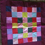 Lovely Mennonite Doll Quilt with Satiny Fabrics