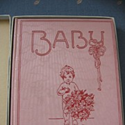 Meta Morris Gimball Famous Illustrator Early 1900s Babyhood Days Book Baby Book