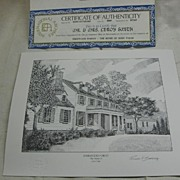 Prints of 4 Former US Presidents Homes by Richard V Sebring