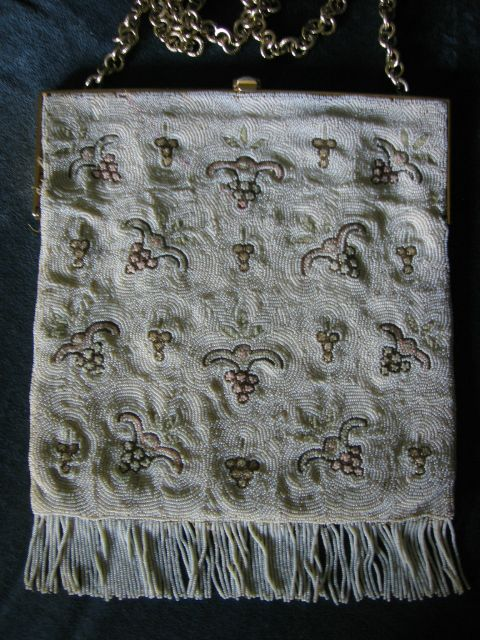 Lovely Vintage Macro Beaded Purse Go with Any Outfit!!