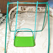 NOS Wire and Metal Doll Swinging Chair in Original Package