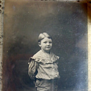 Bronsons Studio Montrose Pa RPPC Boy in Polka Dot Knickers