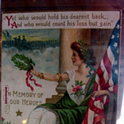 Rare Lady Liberty Honors Heros Memorial Day Postcard