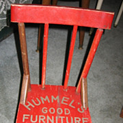 Red Painted Childs Rocking Chair Vintage Adv Hummels Furniture