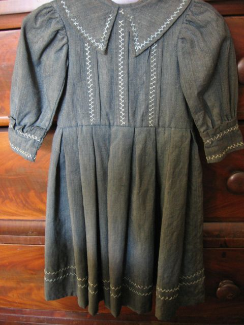 Antique Victorian Boys Hand Decorated Dress