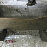 Antique Miniature Wooden Doll Rocking Cradle