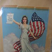 Patriotic Lady Liberty Print from Scrapbook