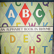 An Alphabet Book in Rhyme 1940s Childs Book McLoughlin Bros