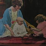 Babys First Toy Calendar Print Vintage Art Print