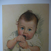 Frances Tipton Hunter Baby Sucking On Bottle Print