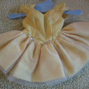 Vintage Yellow TUTU Type Doll Costume Dance Dress or Outfit
