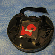 NOS Vintage Doll Purse with Puppy Red or Black