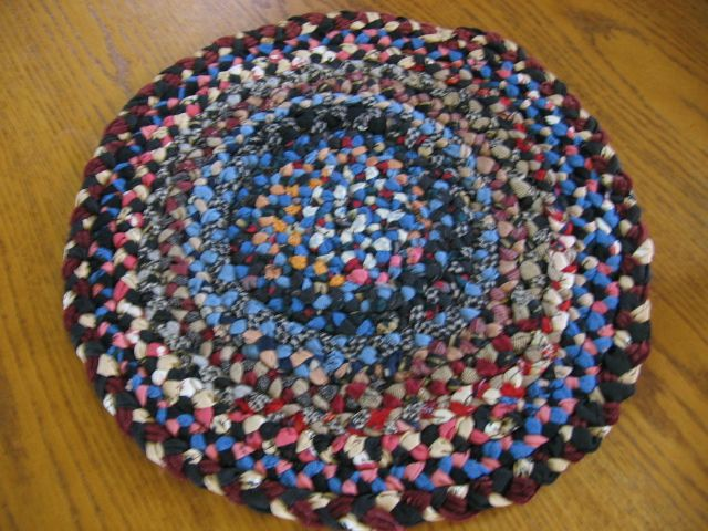 Lancaster County Pa Mennonite Made Hand Braided Mat or Rug