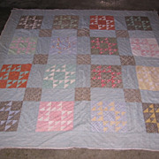 Vintage Calicos Mennonite Made Quilt