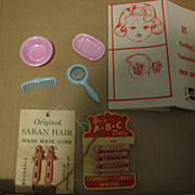 Vintage Saran Hair Doll Curlers and Accessories