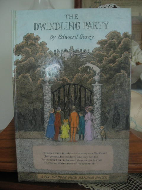 The Dwindling Party by Edward Gorey First Edition Signed By Author