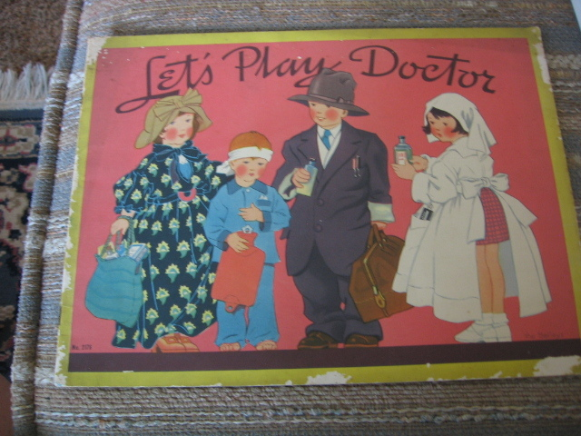 Lets Play Doctor Uncut Paper Doll Paper Toy Booklet 1938 Saalfield