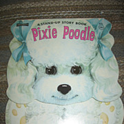 Poodle Book Adorable Vintage Stand Up Pixie Poodle Book