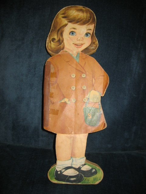 Vintage One of a Kind Paper Doll Diecut with Story Book & Dresses Very Unique!!