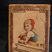 Victorian Gift Hankie in Original Lithographed Hankie Box