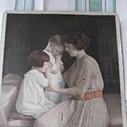 Frey Weaver Coffee Co Lancaster Pa Advertising Fan Mom & Kids