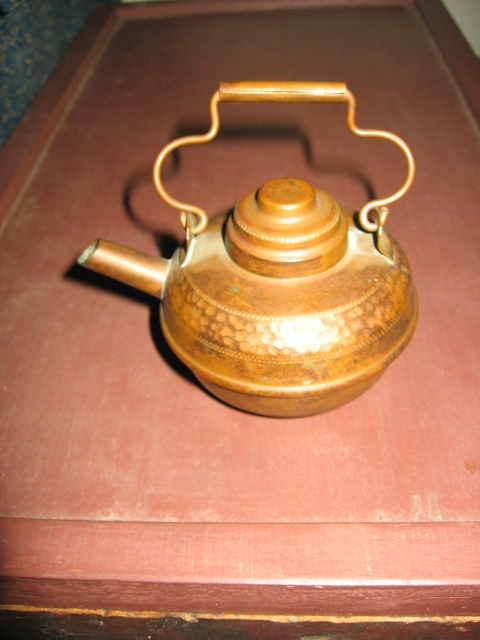 MIniature Copper Kettle Vintage Hammered Copper Pot