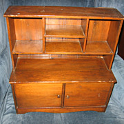 Wonderful Old Wooden Doll Hutch Stepback Cupboard