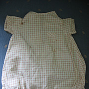Doll Romper with Tiny Pocket Adorable Vintage Outfit