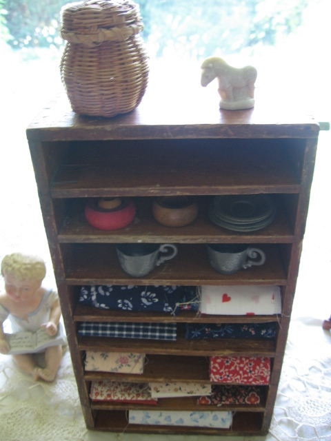 Toy Cupboard Wood Shelf Ginny Sized Primitive