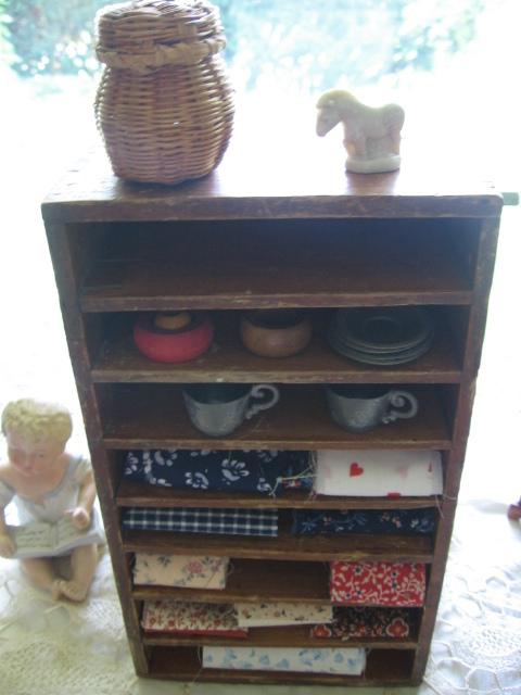 Toy Cupboard Wood Shelf Ginny Sized Primitive