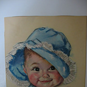 Sweet Print Baby in Blue Bonnet by Maud T Fangel