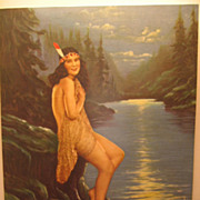 R Atkinson Fox Indian Maiden Calendar Print