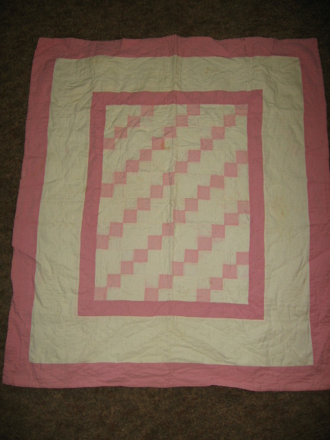 Vintage Hand Made Crib Quilt