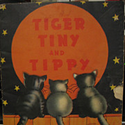 Kittens Tiger Tiny & Tippy 1930s Childs Word Puzzle Book &